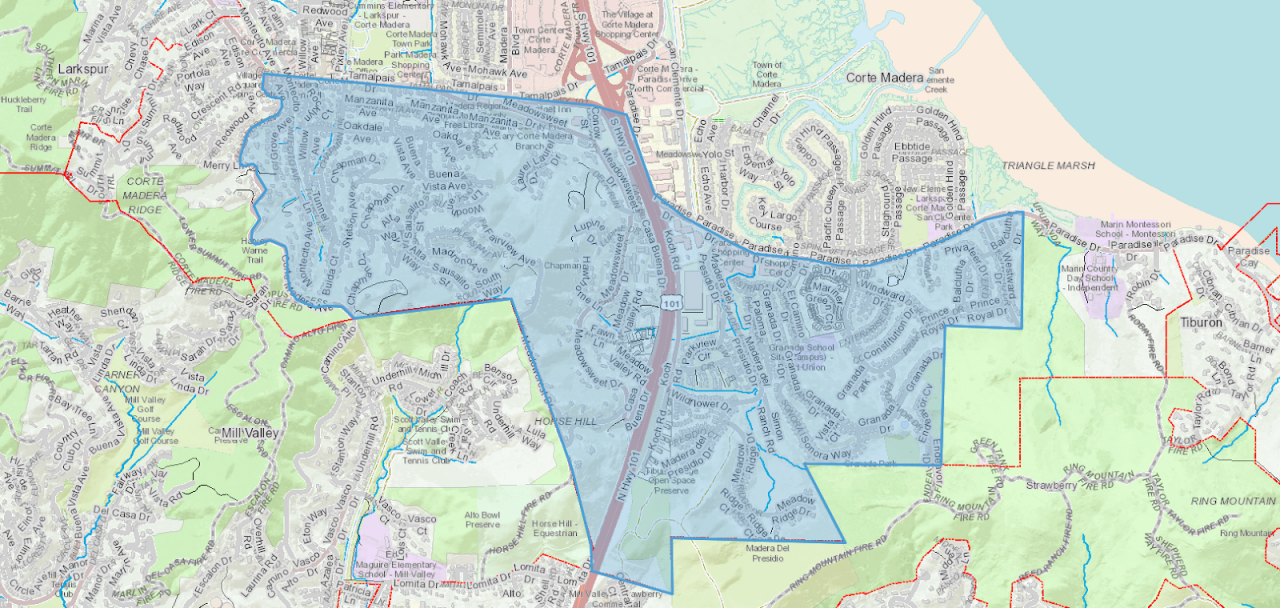 Corte Madera DSpace Evaluation Map 2021