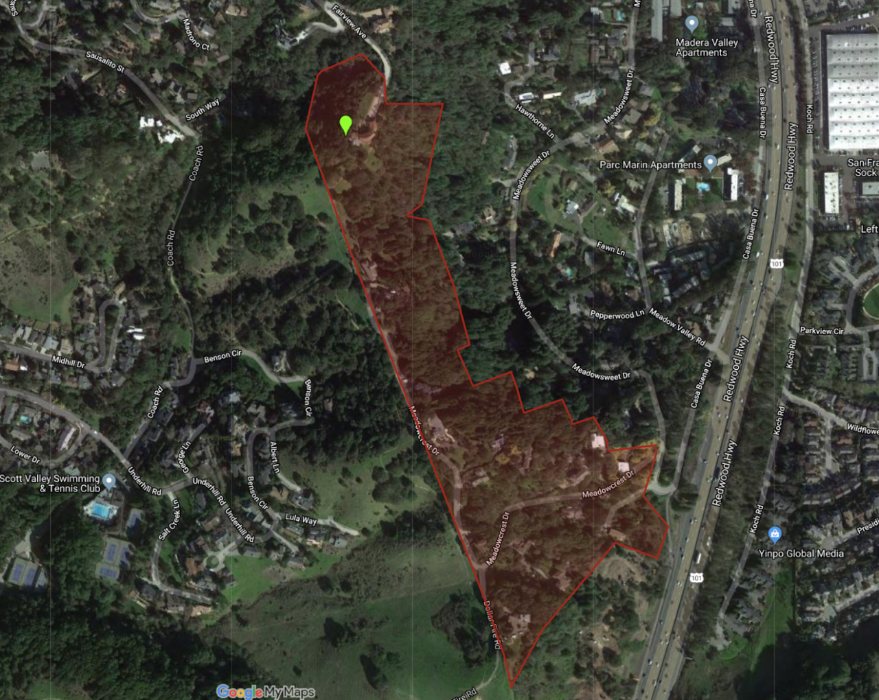 Meadowcrest Ridge, Corte Madera (Marin County, CA) is Marin's newest Firewise USA site.